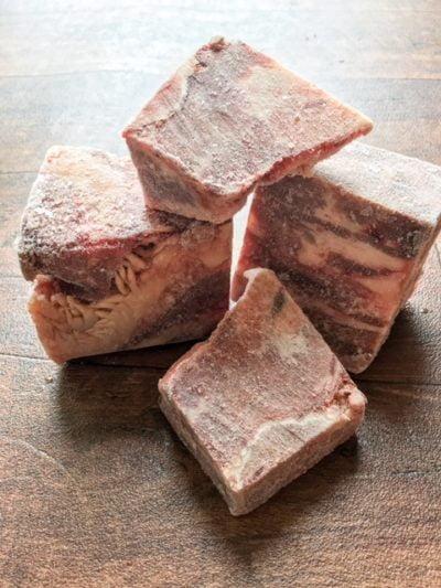rump raw dog beef chunks