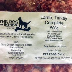 The Dog and Bones Lamb, Turkey CompleteRaw Dog Food