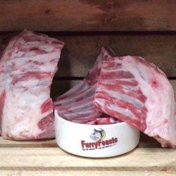 Furry Feasts Lamb Necks Raw Dog Food