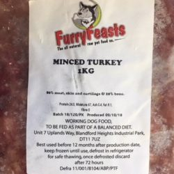 Furry Feats Organic Turkey Mince