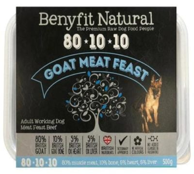 Benyfit Natural Goat Meat Feast Raw Dog Food