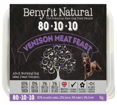 Benyfit Venison Meat Feast Raw Dog Food