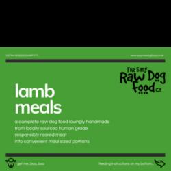 The Easy Raw Dog Food Company Lamb 80:10:10