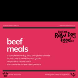 The Easy Raw Dog Food company Beef 80:10:10