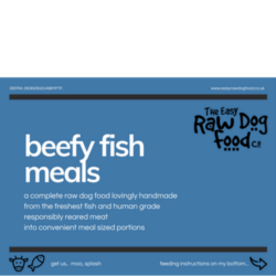 The Easy Raw Dog Food Company Beefy Fish meal