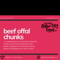 The Easy Raw Dog Food Company Offal Chunks