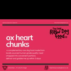 Easy Raw Dog Food Company Heart Chunks