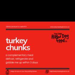 The Easy Raw Dog Food Company BonelessTurkey Chunks 500g