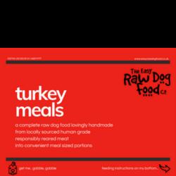 The Easy Raw Dog Food Company Turkey Meals
