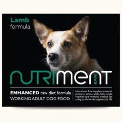 Nutriment Lamb Formula Raw Dog Food