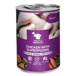 Billy and Margot chicken can with superfoods