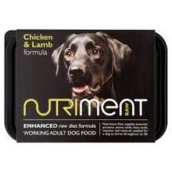 Nutriment chicken and lamb raw dog food