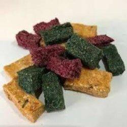 Pont & Pierce small brick shape multi vegan dog biscuits